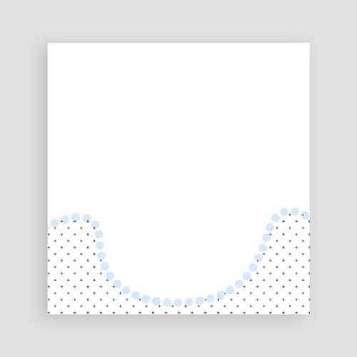 Uitnodiging communie jongen - Blauwe kralen 12724 thumb