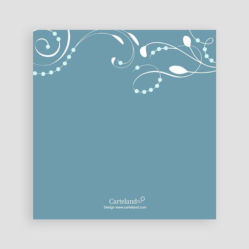 Uitnodiging communie meisje - Blauw versierd kruis jongens 12742 thumb