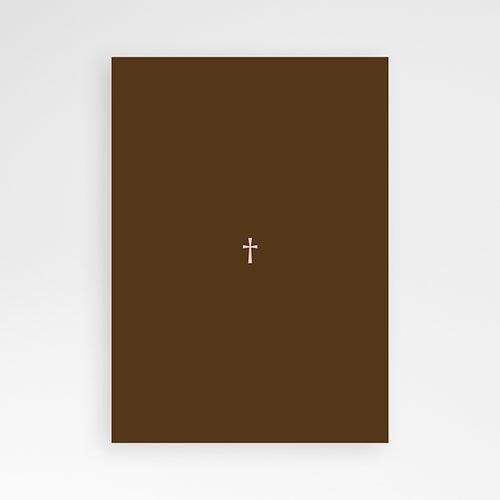 Doopkaartje meisje - Bruine tinten fotokaart doop 12754 thumb