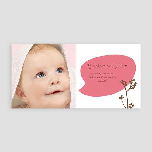Geboortekaartje meisje - Vogeltje Meisje 12940 thumb