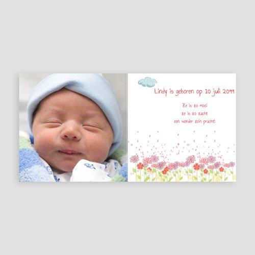 Geboortekaartje meisje - Schaap zacht 13106 thumb