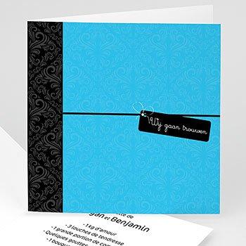 Personaliseerbare trouwkaarten - Blauwe save the date - 1
