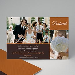 Bedankkaartjes huwelijk - Karamel - 1