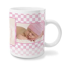 Personaliseerbare mokken Geboren in roze