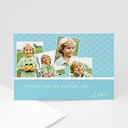 Bedankkaart communie jongen Communieviering lichtblauw