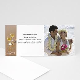 Bedankkaartjes huwelijk - Open album - 1