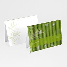 Personaliseerbare plaatskaartjes huwelijk Bamboe huwelijk