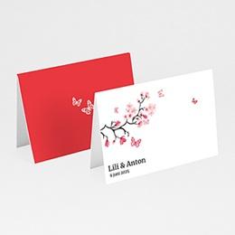 Personaliseerbare plaatskaartjes huwelijk Magnolia roze