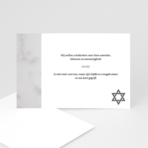 Joods Bedankkaartjes Overlijden Portret kaart David