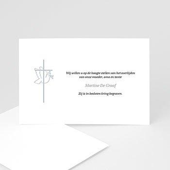 Bedankkaarten overlijden, Christelijk - Met vrede heen - 1
