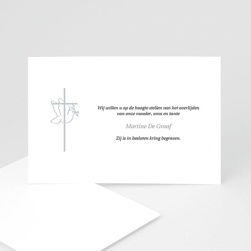 Christelijke Bedankkaartjes Overlijden Met vrede heen