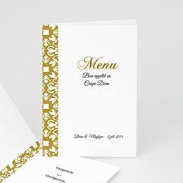 Personaliseerbare menukaarten huwelijk Deco huwelijk