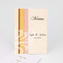 Personaliseerbare menukaarten huwelijk Pastelliefde