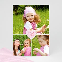 Aankondiging Multi-photo Multifoto hartje letter