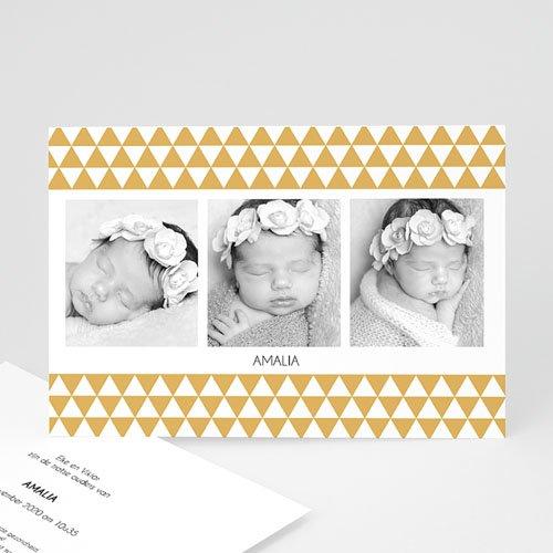 Geboortekaartje meisje - Klassiek retro 3 foto's 13247