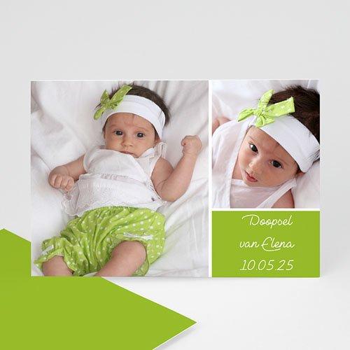 Fotokaarten met 2 foto's Groen en fris