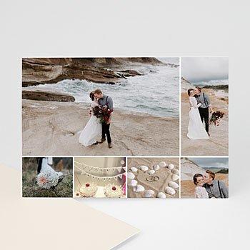 Multi fotokaarten, meerdere foto's - Multifotokaart 6 foto's strand - 1
