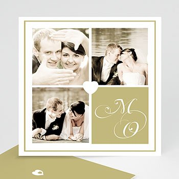 Multi fotokaarten, meerdere foto's - Multifoto liefde wit hart - 1