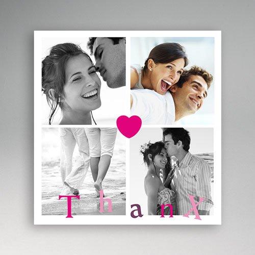 Multi fotokaarten, meerdere foto's - Bedankt met een hart 13265 thumb