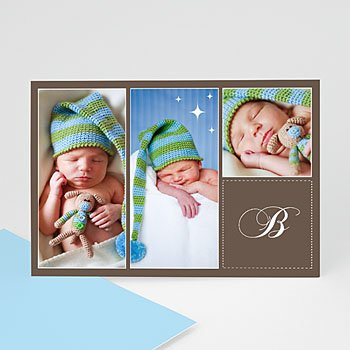 Multi fotokaarten, meerdere foto's - Taupe kaart multifoto - 1