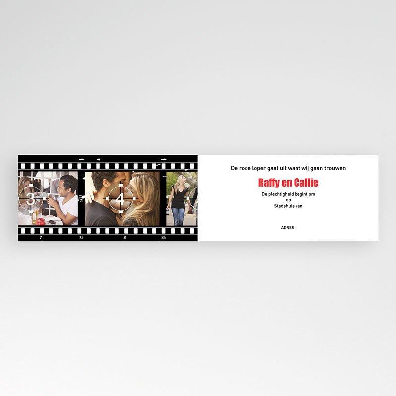 Trouwkaarten Zwart Wit - Net als in de film 13306 thumb