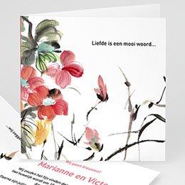 Personaliseerbare trouwkaarten - Oosters aquarel - 1