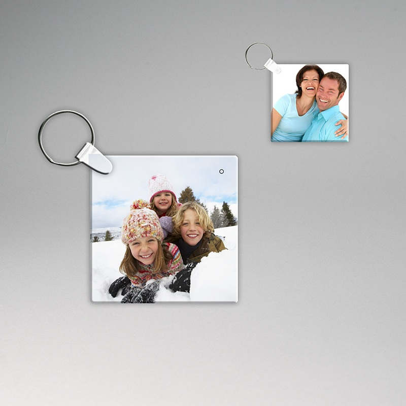 Gepersonaliseerde Foto Sleutelhanger Foto-sleutelhanger, vierkant