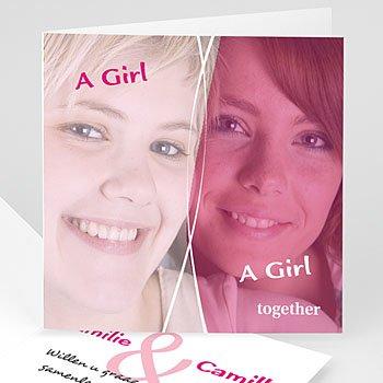 Zij + Zij uitnodiging - Uitnodiging homohuwelijk 4209 - 1