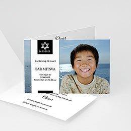 Aankondiging Bar Mitzvah Bar Mitswa uitnodiging davidster
