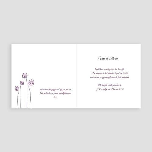 Trouwkaarten Paars - Uitnodiging Huwelijk 1564 13509 thumb