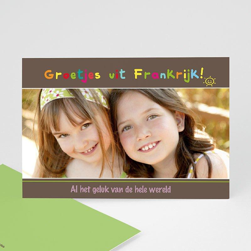 Fotokaart, 1 eigen foto - Coloured Smiles 13534 thumb