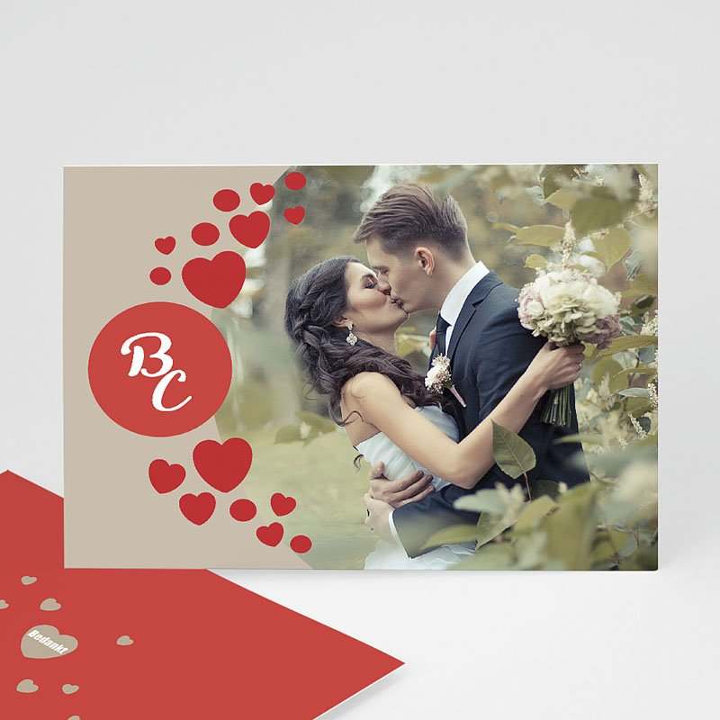Fotokaart, 1 eigen foto Love & Thanks