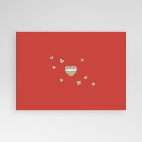 Fotokaart, 1 eigen foto Love & Thanks pas cher