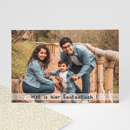 Fotokaart, 1 eigen foto - kalk effect fotokaart  13539 thumb