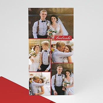 Multi fotokaarten, meerdere foto's - 5 rood fotokaart 4258 - 1