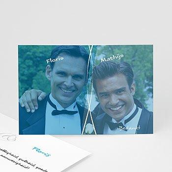 Bedankkaartjes samenlevingsovereenkomst - kaartje homohuwelijk 4208 - 1