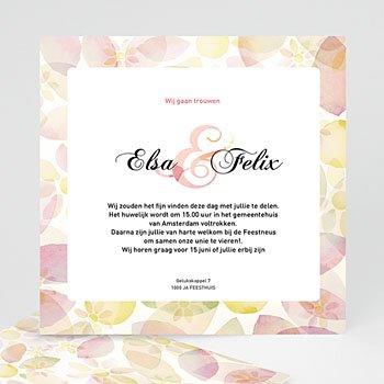 Trouwkaartjes zonder foto - uitnodiging huwelijk 4273 - 1