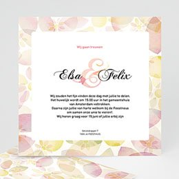 Klassieke trouwkaarten uitnodiging huwelijk 4273