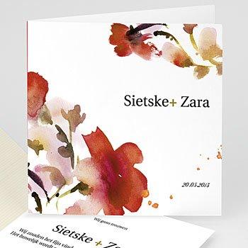 Trouwkaartjes zonder foto - huwelijk kaartje 4272 - 1