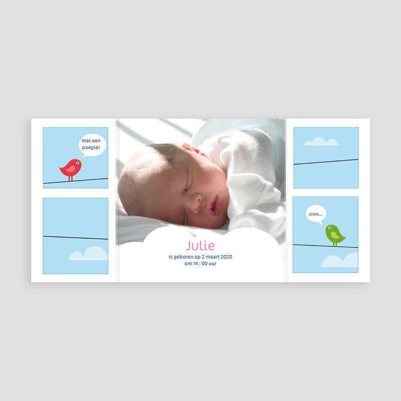 Geboortekaartje meisje geboortekaartje 4111 pas cher