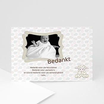 Bedankkaart doopviering jongen - Doopsel 2128 - 1