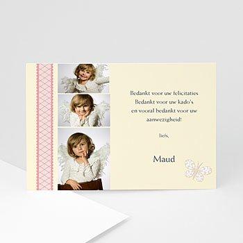 Bedankkaart doopviering meisje - Doopsel 2131 - 1