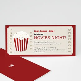 Uitnodiging Anniversaire adulte Movie Night Party