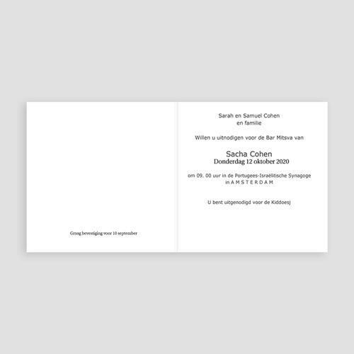 Bar mitsva uitnodiging - Zwart tefilines 13687 thumb