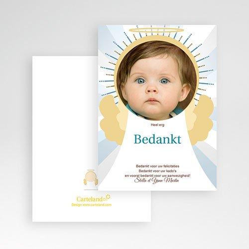 Bedankkaart doopviering jongen doopkaartje 3472 pas cher