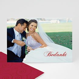 Bedankkaartjes huwelijk - Uitnodiging Huwelijk 2094 - 1