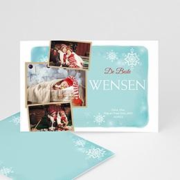 Wenskaarten Kerst Sneeuwvlokken