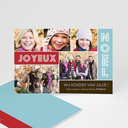 Wenskaarten Kerst Joyeux collage