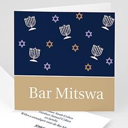 Aankondiging Bar Mitzvah Bar Mitswa Uitnodiging voor jongens