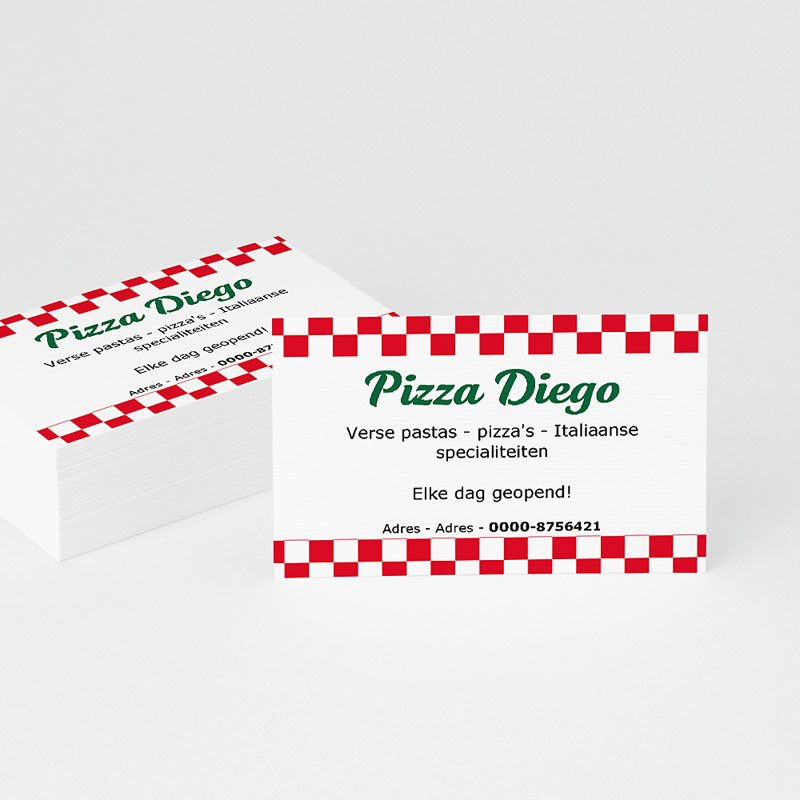 Visitekaartjes - Pizza 13794 thumb